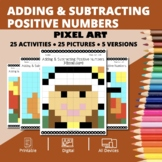 Thanksgiving: Adding and Subtracting Integers #1 Pixel Art