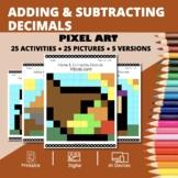 Thanksgiving: Adding and Subtracting Decimals Pixel Art My