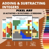 Thanksgiving: Adding and Subtracting Integers #2 Pixel Art