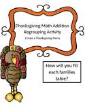 Thanksgiving Math Addition Regrouping Activity