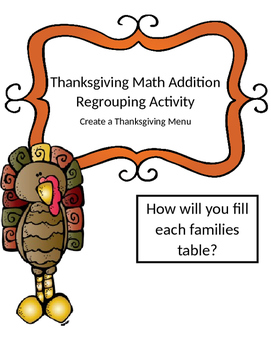 Thanksgiving Math Addition Regrouping Activity