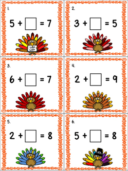 Thanksgiving Math: Addition/Subtraction Math Around the Room