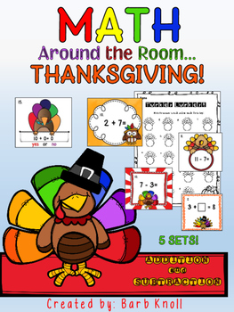 Thanksgiving Math: Addition/Subtraction Math Around the Room