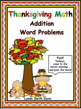 Thanksgiving Math - Addition Word Problems