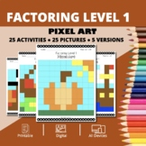 Thanksgiving: Algebra Factoring #1 Pixel Art Mystery Pictures