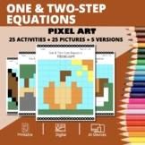 Thanksgiving: Algebra One & Two-Step Equations Pixel Art M