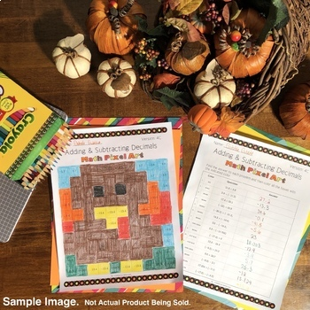 Thanksgiving: Algebra Simplifying Polynomials #1 Pixel Art Mystery Pictures