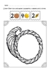Thanksgiving Math Art Activities in Printable Worksheets