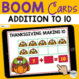 Thanksgiving Math Boom Cards Addition Making to 10