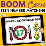 Thanksgiving Math Boom Cards Teen Number Recognition