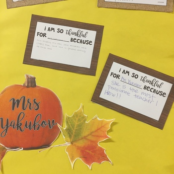 Thanksgiving Math Bulletin Board Set - PDF and EDITABLE PPT