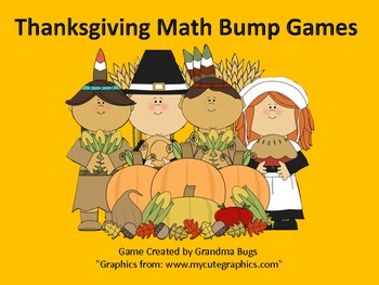 Thanksgiving Math Bump Games