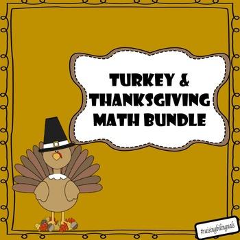 Thanksgiving and Turkey Math Bundle! (primary)