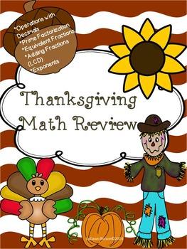 Thanksgiving Math Bundle
