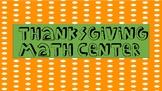 Thanksgiving Math Center
