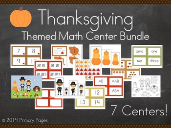 Thanksgiving Math Center BUNDLE