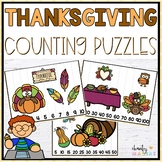 Thanksgiving Math Center Counting Puzzles {FREEBIE}