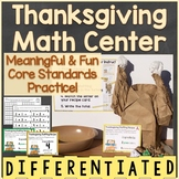 Thanksgiving Math Center Differentiated (Counting, Addition to 10, Making 10)