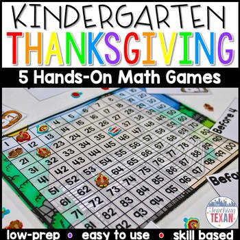 Thanksgiving Math Center Games