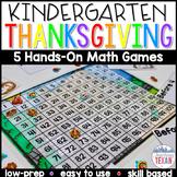Kindergarten Thanksgiving Math Center Games