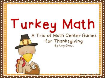 Thanksgiving Math Center Games: Turkey Math