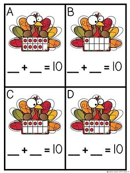 Thanksgiving Math Center - Making Ten