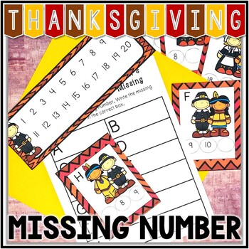 Thanksgiving Math Center - Missing Number