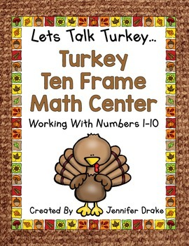 Thanksgiving Math Center  Numbers 1-10