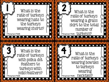 Thanksgiving Math Center:  Ratios, Rates & Proportions
