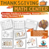 Thanksgiving Math Center | Spin and Write Your Numbers | Counting