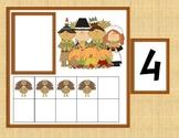 Thanksgiving Math Center: Ten Frame Match!