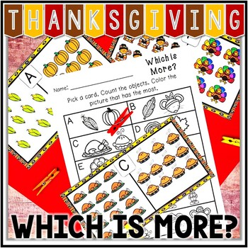 Thanksgiving Math Center - Which is More