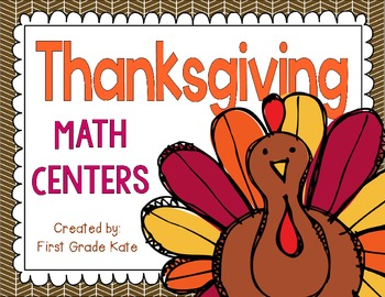 Thanksgiving Math Centers for First Grade
