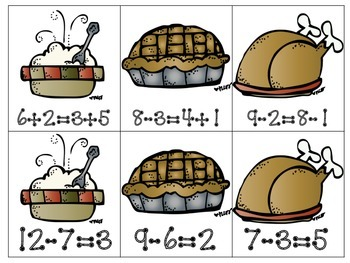 Thanksgiving Math Centers!