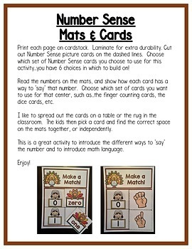 Thanksgiving Math Centers: Differentiated Math Bundle for  Preschool, PreK, & K
