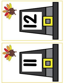Thanksgiving Math Centers Preschool and Kindergarten