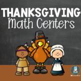 Thanksgiving Math Centers Activities for Preschool, PreK and Kindergarten