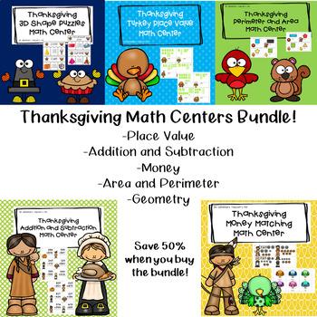 Thanksgiving Math Centers Bundle