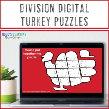 DIVISION Turkey Puzzles   FUN Thanksgiving Math Games or Centers