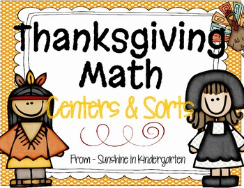 Thanksgiving Math Centers & Sorts