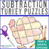Thanksgiving Centers | Thanksgiving Activities | Turkey Subtraction Puzzles