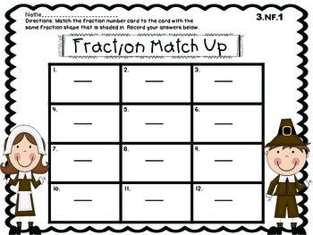 Thanksgiving Math Centers! Third Grade.. Common Core