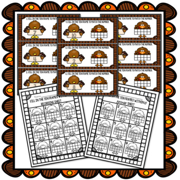 Turkey Ten Frames