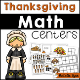 Thanksgiving Math Centers for Kindergarten