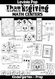 Thanksgiving Math Centers for Kindergarten B&W