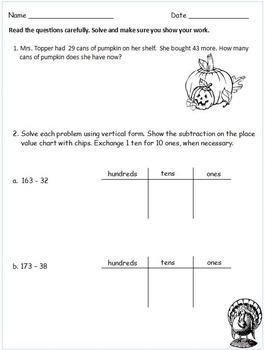 Grade 2 Thanksgiving Math Centers for a Week! Based on Eureka Math Module 4
