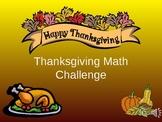 Thanksgiving Math Challenge