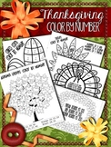 Thanksgiving Math -- Color By Number