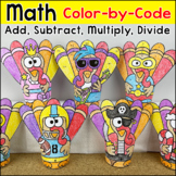 Thanksgiving Math Color by Number: Addition, Subtraction,