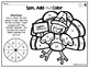 Thanksgiving Math Coloring Worksheets Addition Spin Solve and Color